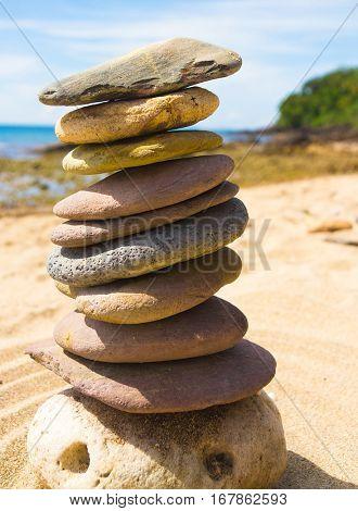 Zen Pebbles Balance in Harmony