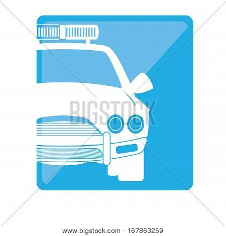 police car patrol two tone button icon image vector illustration design
