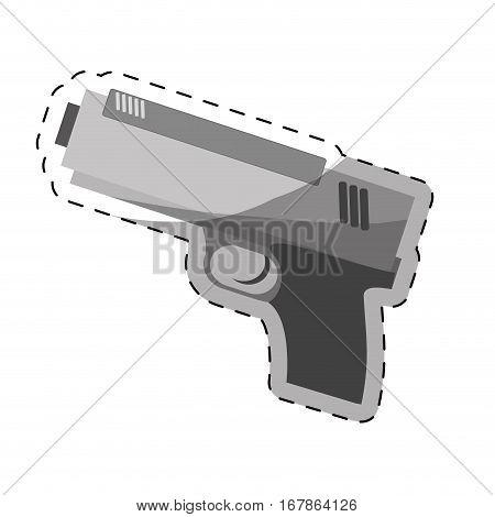 single hand gun icon image vector illustration design