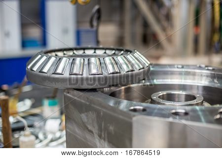 the ball bearing on the mechanism in the production hall