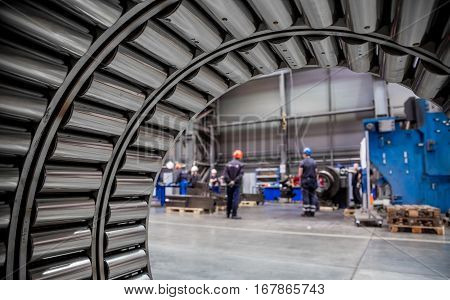 equipment for Metalworking production blurred image daylight