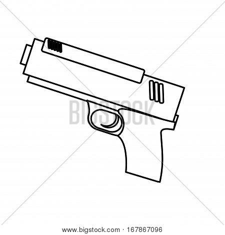 handgun weapon icon image vector illustration design