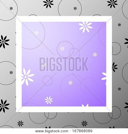 Сute seamless pattern with flowers and circles. Space. Mood. Love romantic and Valentine's Day background. Wrapping paper also. Easy and convenient to edit.
