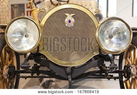 Malaga Spain - December 4 2016: Richmond 22hp 1908. Displayed at Museo Automovilistico in Malaga