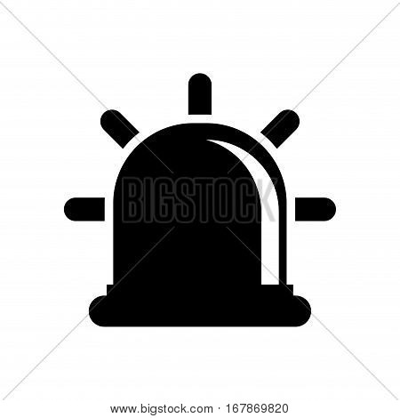 siren or beacon silhouette icon image vector illustration design