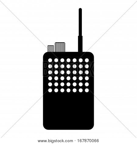 walkie talkie radio icon image vector illustration design
