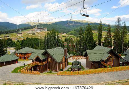 hotel in the ukrainian mountain resort of bukovel