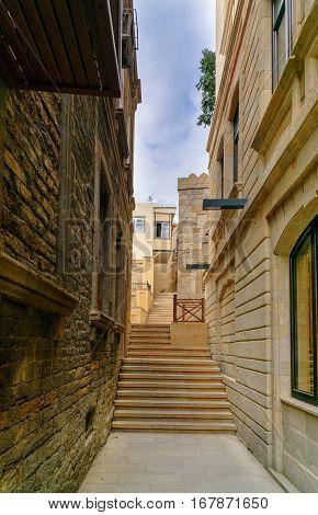 Narrow Street In Old City, Icheri Sheher. Baku