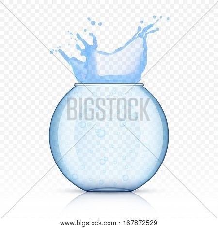 a fish bowl isolated on transparent background