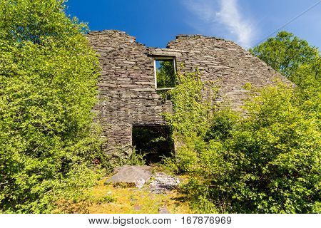Gable End Of Ruined Slate Mill