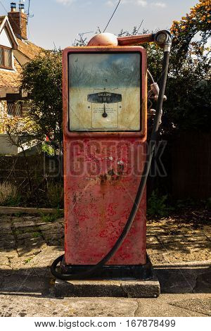 Old Vintage Petrol Pump