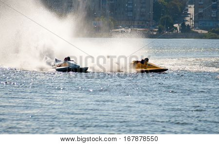 exciting and extreme races on motor boats