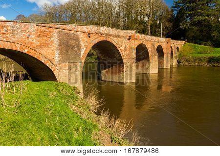 Bredwardine Bridge, Red Brick Crossing River Wye