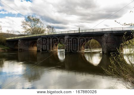 Wilton Bridge a Grade I listed bridge over the River Wye from Wilton Herefordshire and Ross-on-Wye Herefordshire England.