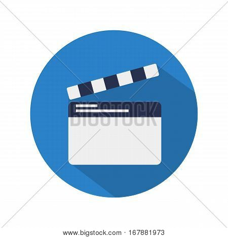 Vector clapperboard icon. Flat design EPS10 illustration cinema