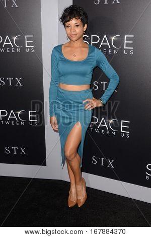 LOS ANGELES - JAN 17:  Aasha Davis at the