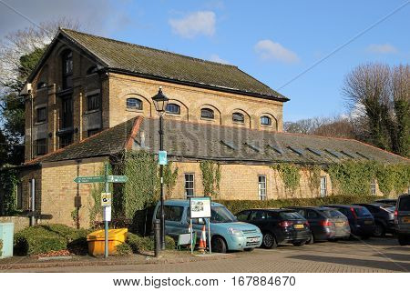 Alresford, Uk - Jan 28 2017: Station Mill And Warehouse, At Alresford Station, On The Watercress Lin