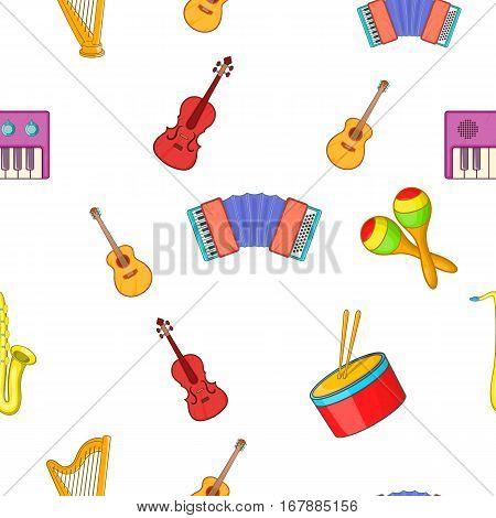 Device for music pattern. Cartoon illustration of device for music vector pattern for web