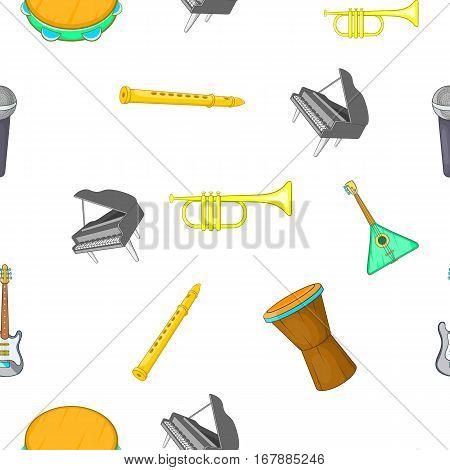Musical device pattern. Cartoon illustration of musical device vector pattern for web