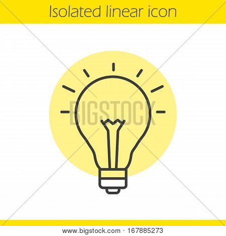 Good idea linear icon. Light bulb thin line illustration. Eureka contour symbol. Vector isolated outline drawing