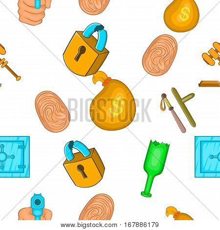 Lawlessness pattern. Cartoon illustration of lawlessness vector pattern for web