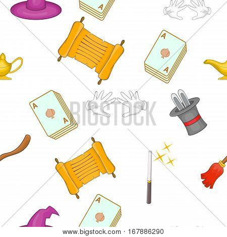 Witchery pattern. Cartoon illustration of witchery vector pattern for web