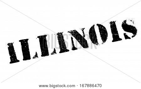 Illinois stamp. Grunge design with dust scratches. Effects can be easily removed for a clean, crisp look. Color is easily changed. rubber grunge