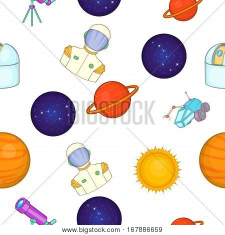 Universe pattern. Cartoon illustration of universe vector pattern for web