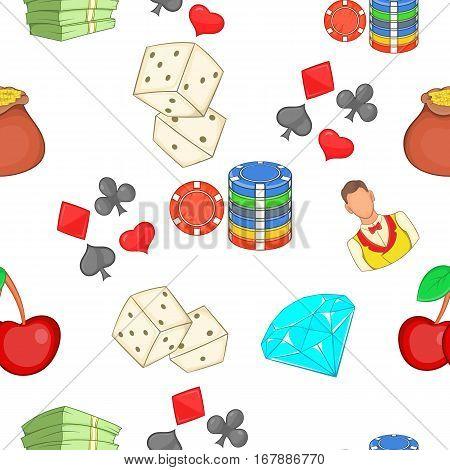 Casino pattern. Cartoon illustration of casino vector pattern for web