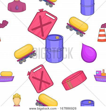 Petroleum pattern. Cartoon illustration of petroleum vector pattern for web
