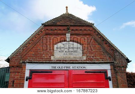 New Alresford, Uk - Jan 28 2017: The Disused Old Fire Station In New Alresford, Hampshire Uk. An Old