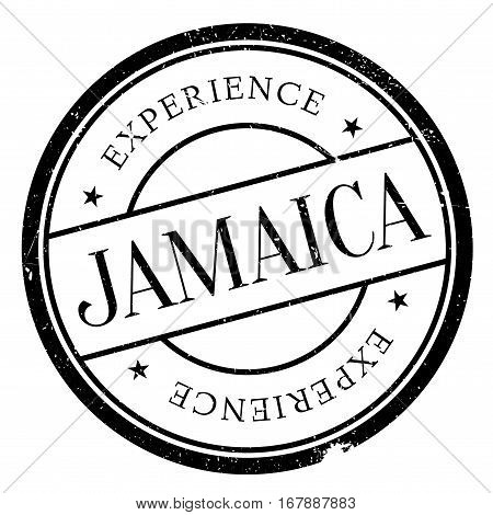Jamaica stamp. Grunge design with dust scratches. Effects can be easily removed for a clean, crisp look. Color is easily changed. rubber grunge