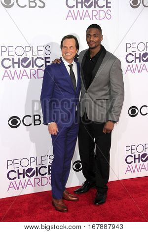LOS ANGELES - JAN 18:  Bill Paxton, Justin Cornwell at the People's Choice Awards 2017 at Microsoft Theater on January 18, 2017 in Los Angeles, CA