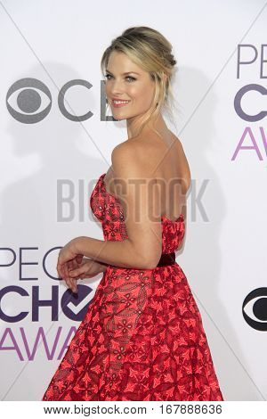 LOS ANGELES - JAN 18:  Ali Larter at the People's Choice Awards 2017 at Microsoft Theater on January 18, 2017 in Los Angeles, CA