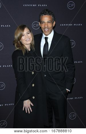 LOS ANGELES - JAN 19:  Ellen Pompeo, Chris Ivery at the Unveiling of the Remodeled Century Plaza at Century Plaza Hotel on January 19, 2017 in Century City, CA