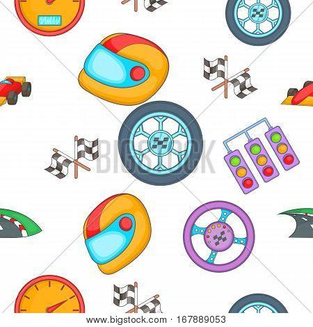 Race and awarding pattern. Cartoon illustration of race and awarding vector pattern for web