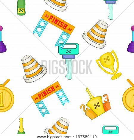 Racing and competition pattern. Cartoon illustration of racing and competition vector pattern for web