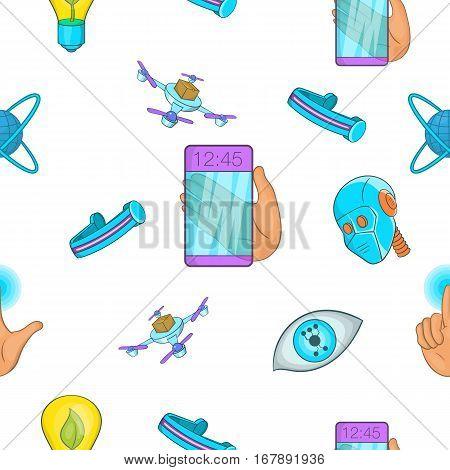 Innovation pattern. Cartoon illustration of innovation vector pattern for web