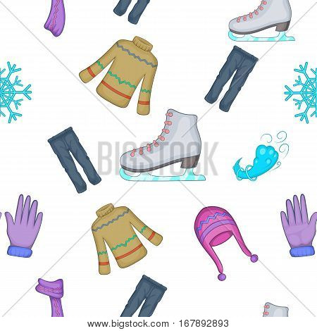 Clothing pattern. Cartoon illustration of clothing vector pattern for web