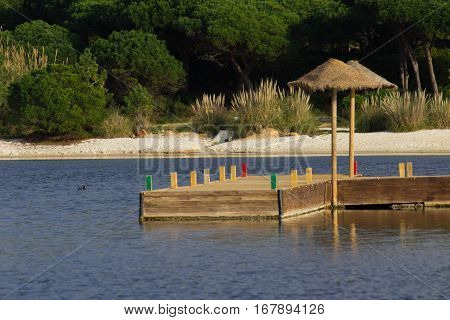 Lago e férias, lake and hollydays, abundance, lake resort, Algarve Portugal