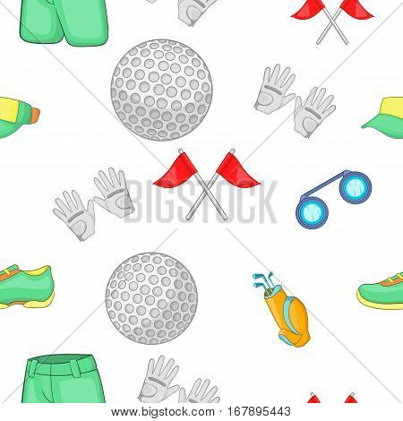 Game of golf pattern. Cartoon illustration of game of golf vector pattern for web