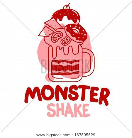 Monster Shakes In Cocktail Jars