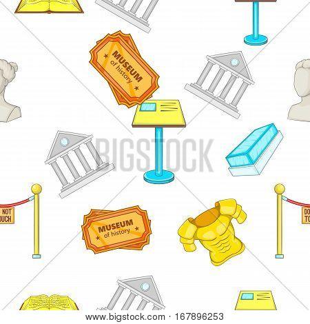 Museum pattern. Cartoon illustration of museum vector pattern for web