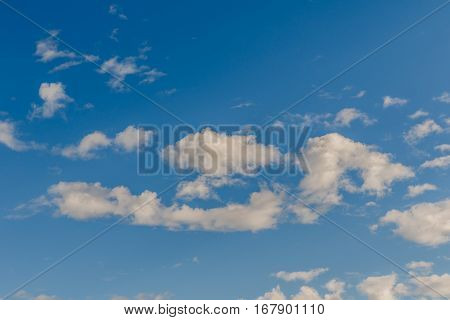 beautiful of Blue sky background with tiny clouds