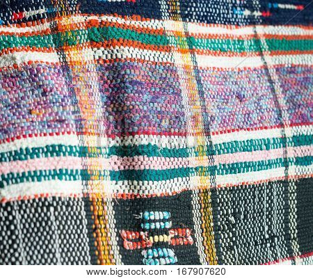 Traditional Ukrainian woven fabric from the Carpathian mountains region