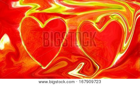 red heart unearthly love kosimechkom space 3d illustration of a red background