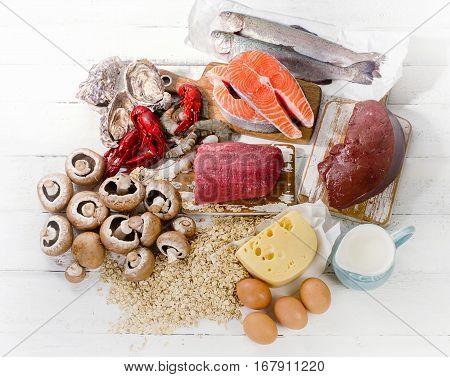 Foods Of Vitamin B12 (cobalamin). Healthy Eating.