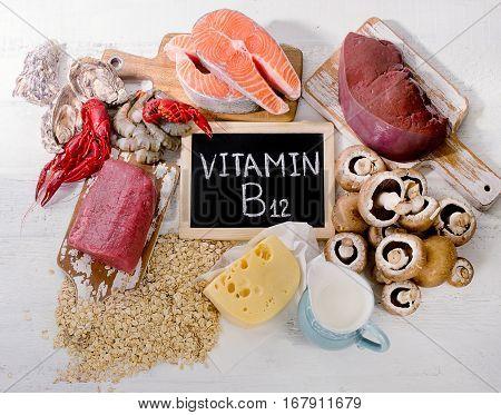 Natural Sources Of Vitamin B12 (cobalamin). Healthy Eating.
