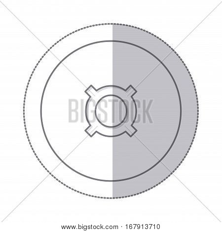 middle shadow monochrome circle with currency symbol of common use vector illustration