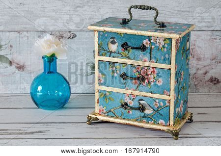 Decoupaged Jewellery Chest